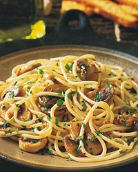 Paleo Diet Basics - Paleo Spaghettini with Mushrooms garlic and oil
